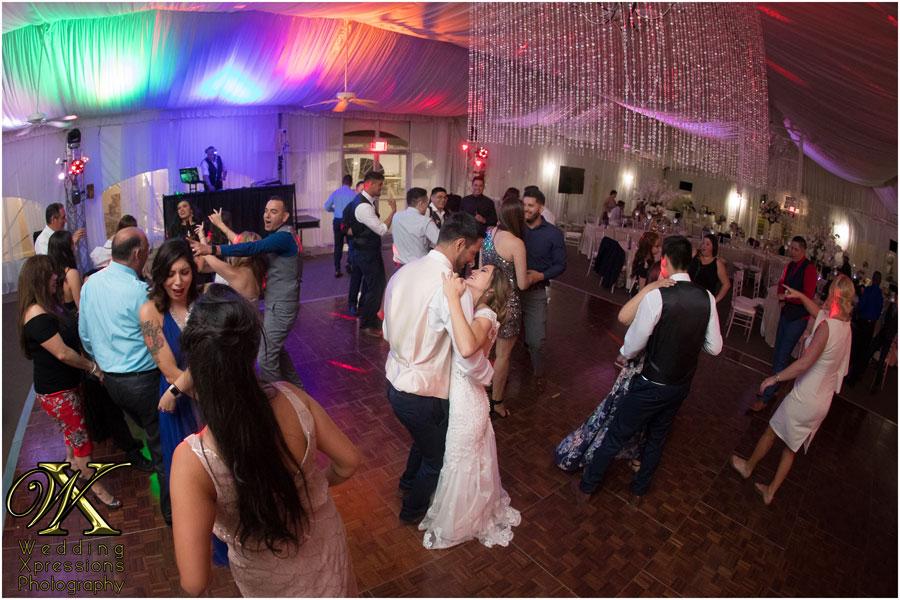 wedding reception at Grace Gardens in El Paso