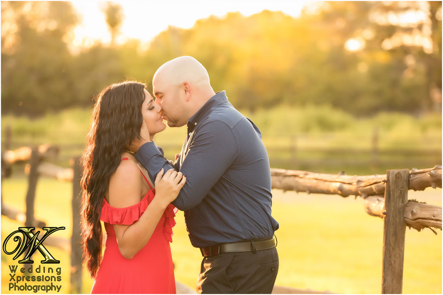 romantic engagement session in El Paso