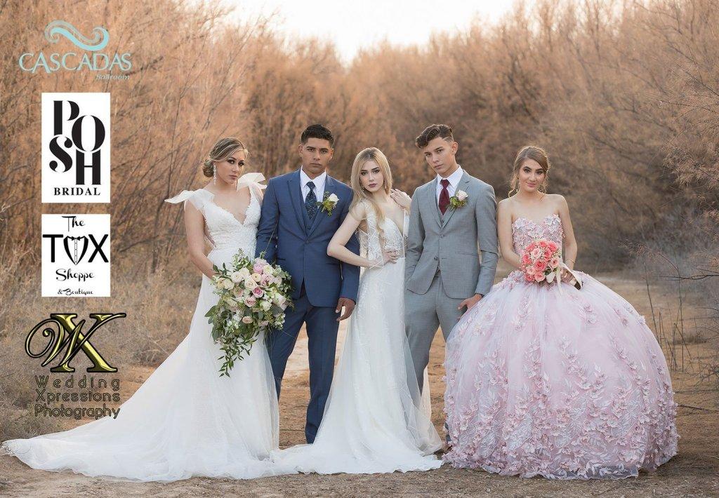 Cascadas Ballroom, Posh Bridal, The Tux Shoppe, Wedding Xpressions Photography