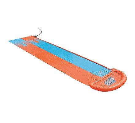 tapis de glisse double piste gonflable avec jets d eau l 549cm
