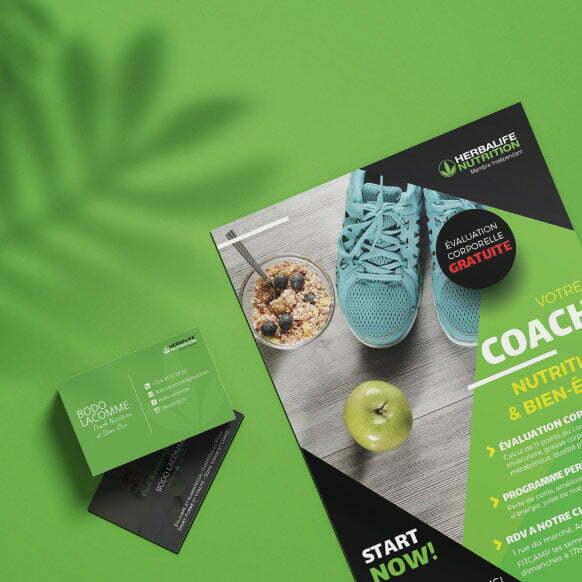 Création carte de visite Herbalife Nutrition