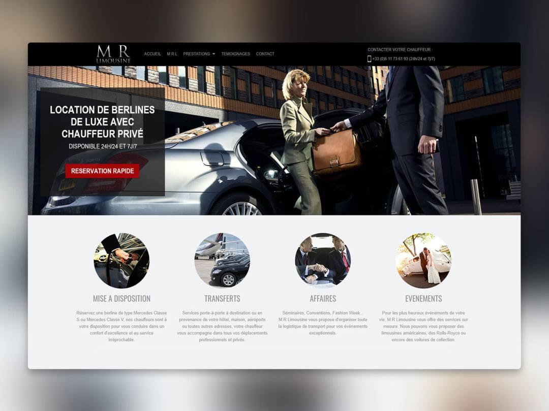 Site internet chauffeur M-R Limousine