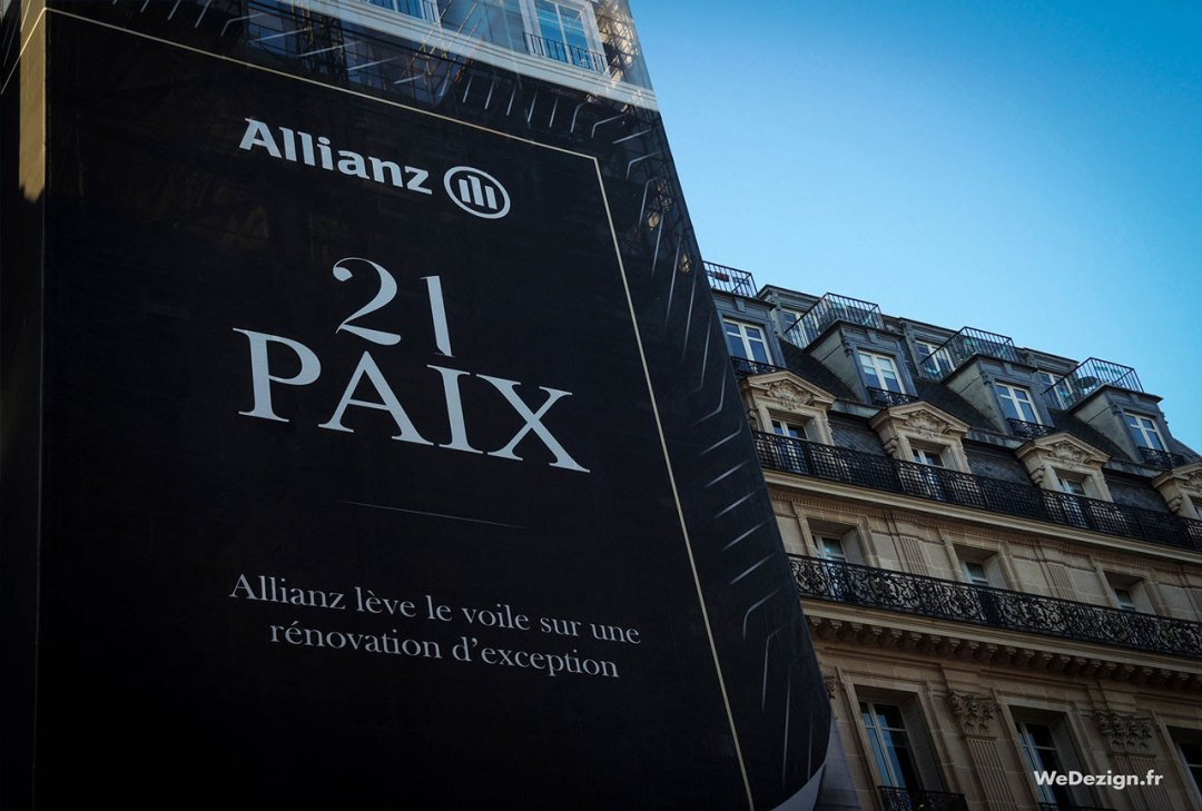 Bâche échafaudage Allianz Real Estate