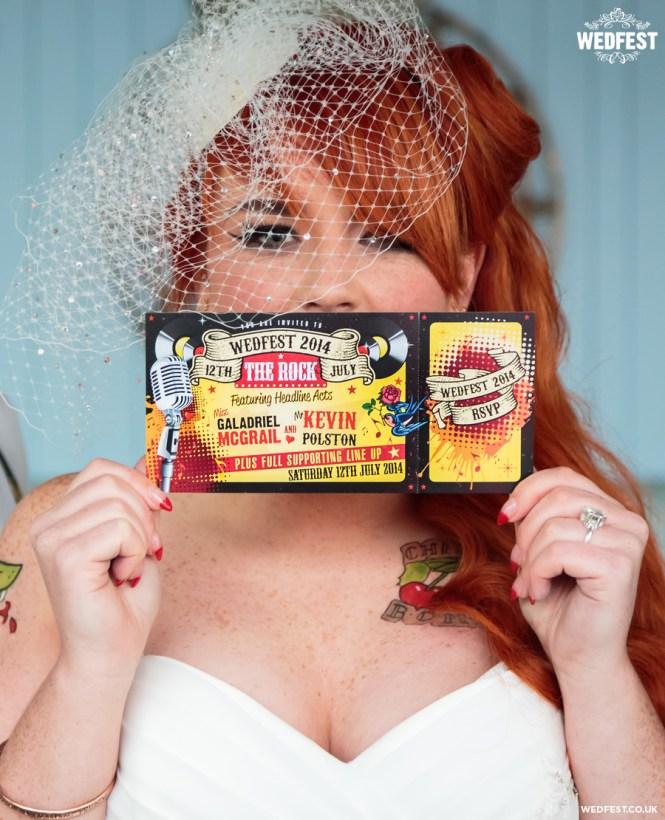 Rockabilly Polka Dot Wedding Invitation Black
