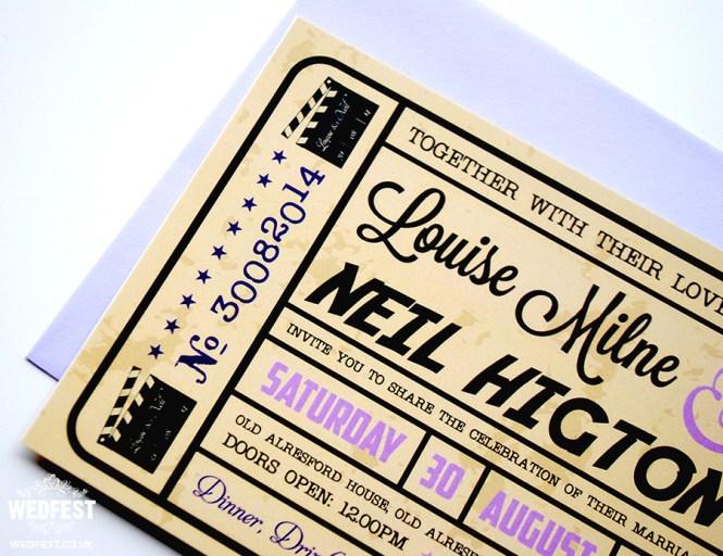 Movie Ticket Wedding Invitations Wedfest