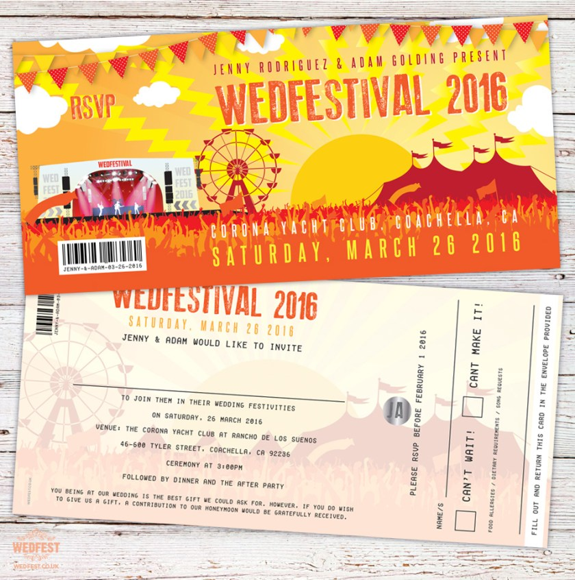 Festival Wedding Invitation Coaca