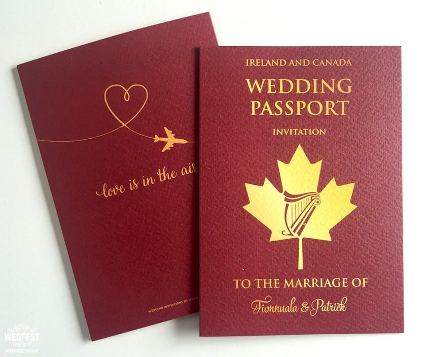 Irish Pport Wedding Invitation