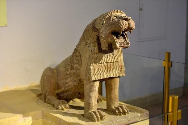 terracotta lion from Tell Harmal