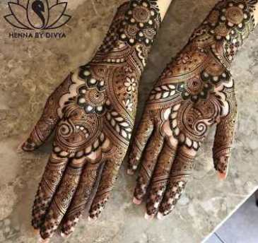 mehendi designs for front hands