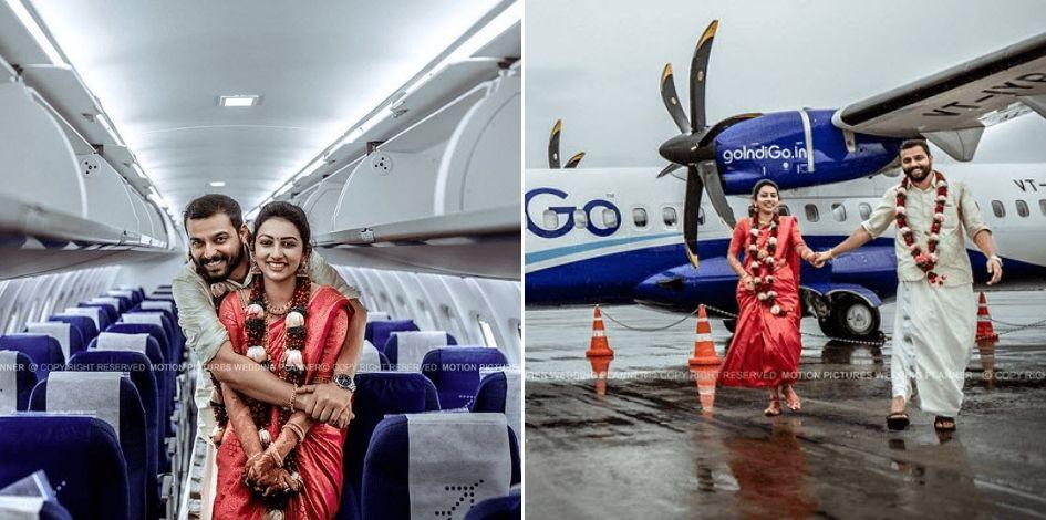 wedding photoshoot in flight 2020
