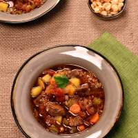 Andes Mountains Quinoa Beef Soup