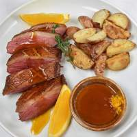 Duck Breast a L'Orange with Oven Roasted Potatoes