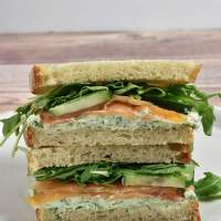 Smoked Salmon Sandwich with Dill Cream Cheese