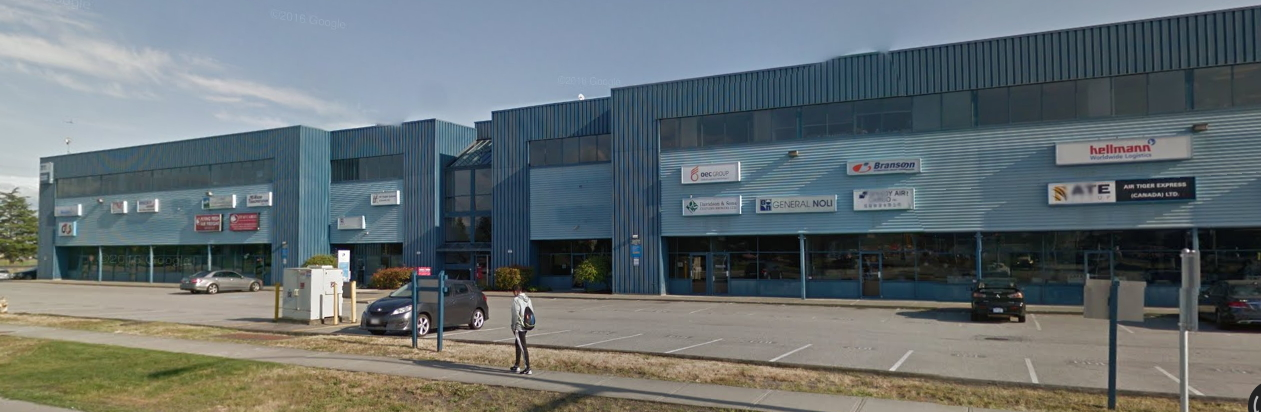 Freight forwarding is a huge industry. This street in Vancouver has several freight forwarders all in one building.