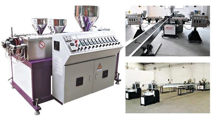 Three-Color Plastic Rattan Extruding Machine 28