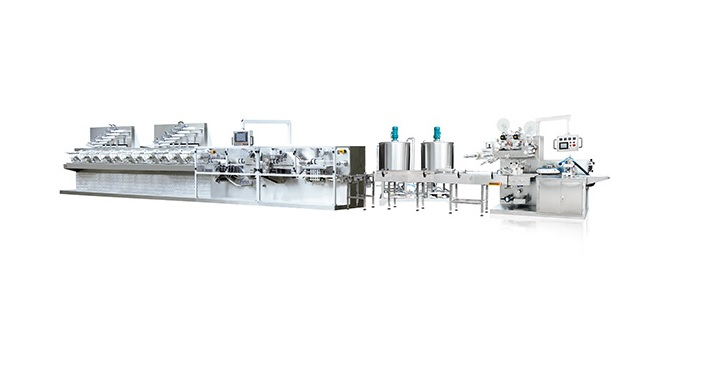 Full-Auto Wet Tissue Paper Folding Packing Production Line