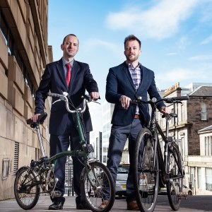 Keith Irving (Cycling Scotland) and Andrew Dobbie (MadeBrave?)