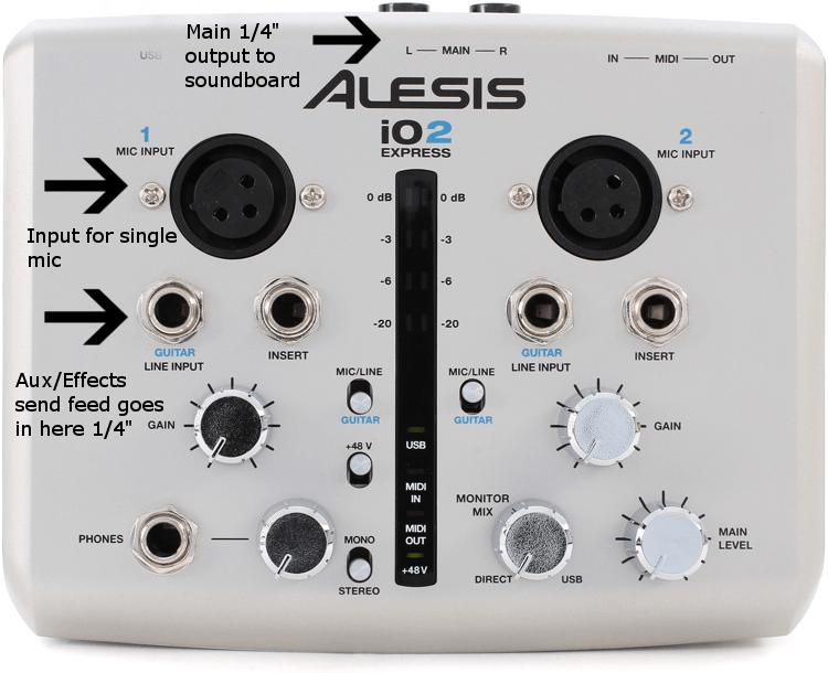 Alesis iO2 skype setup