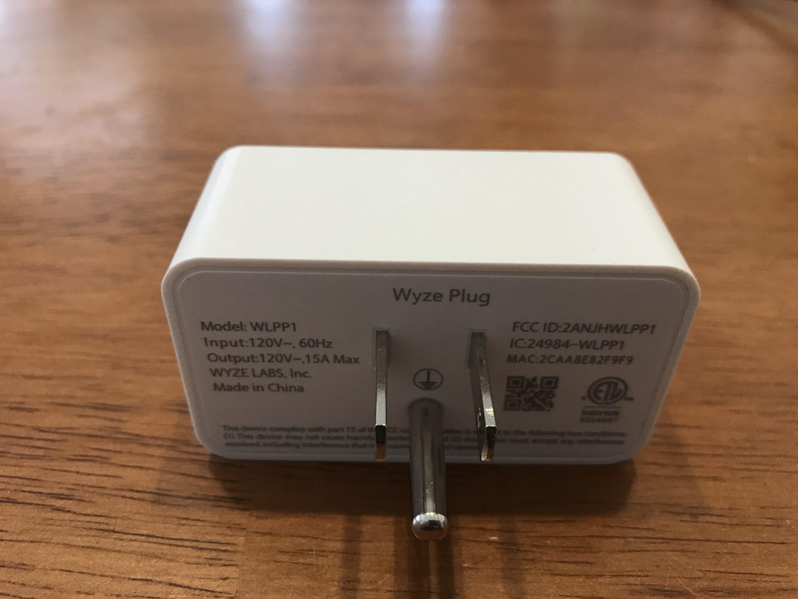 Wyze Plug Back