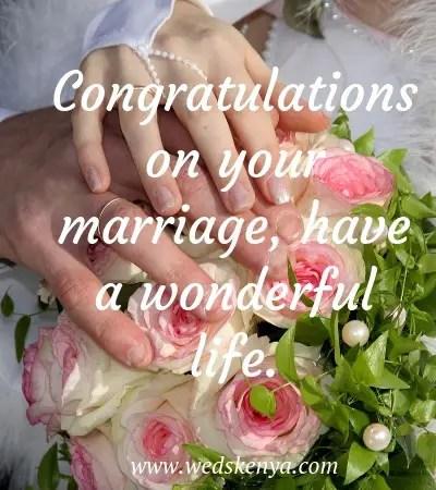 131 Best Wedding Congratulations Quotes In 2020 Weds Kenya