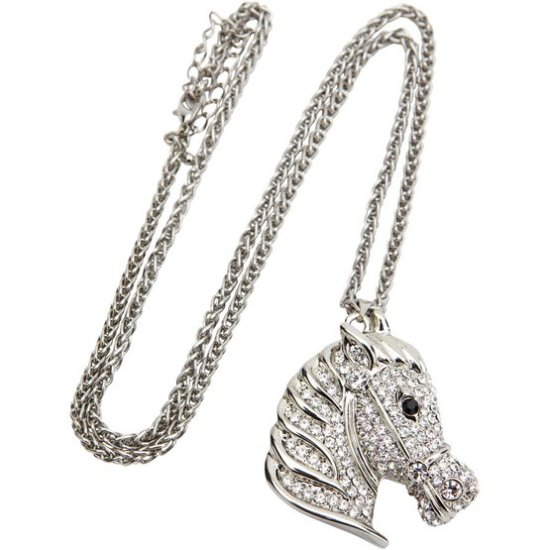 paardenketting bling red horse