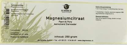 magnesiumcitraat groene os