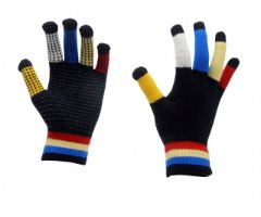 Red horse magic gloves regenboog