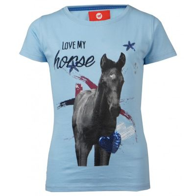 paarden t shirt baby blue