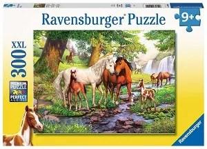 Ravensburger puzzel Wilde paarden bij de rivier 300 stukjes