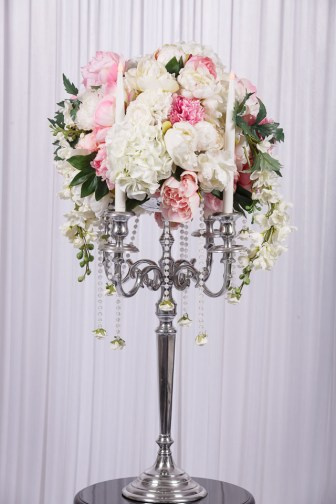 wedstyle-hire-flower-arrangement-silver-candelabra-with-real-touch-flowers