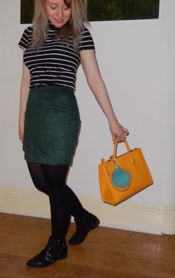Top: Primark / Skirt : Wee &Twee / Bag: Strathberry / Shoes: M&S