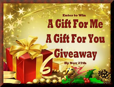 Blogger Opportunity: A Gift For Me - A Gift For You Giveaway Sign Ups End 10/24