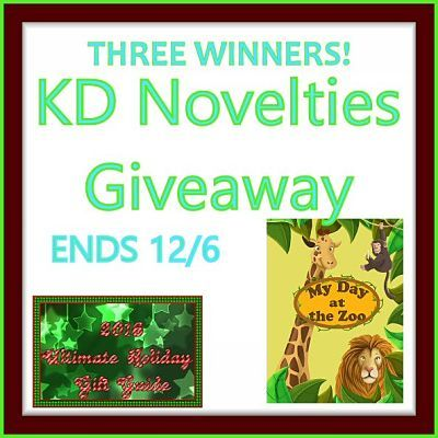 KD Novelties A Day at the Zoo Personalized Children's Book Giveaway