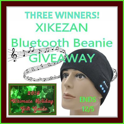 Join me if you want a chance 2 be 1 of 3 Bluetooth Beanie winners in this #GiftGuide #Giveaway on 12/5