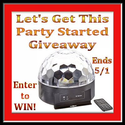 Let's Get This Party Started #Giveaway Ends 5/1 #1byone #Disco