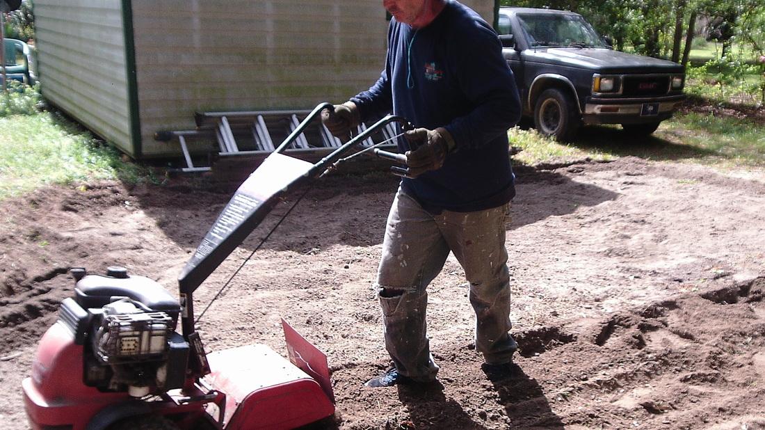 Marc Prepping The Garden