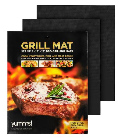 #Yumms BBQ Grill Mats Transform your outdoor grill into a non-stick cooking surface!