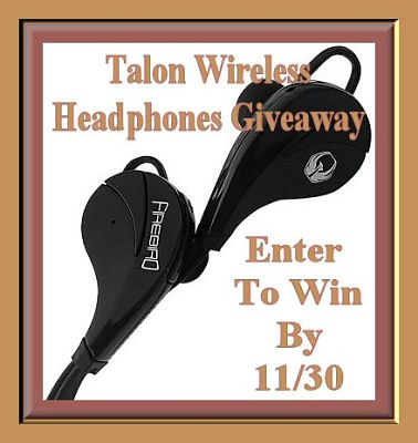 Enter to Win a pair of #Talon Wireless Noise Canceling Headphones Before the #Giveaway Ends 11/30