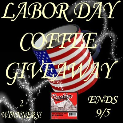 This #LaborDay 2 lucky #giveaway winners are going to #win a box of Brooklyn Bean Bold #Coffee to help them get some work done