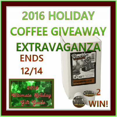 2016 Holiday Coffee Giveaway Extravaganza: BBR Gingerbread Man Coffee Giveaway Ends 12/14 - 2 Winners