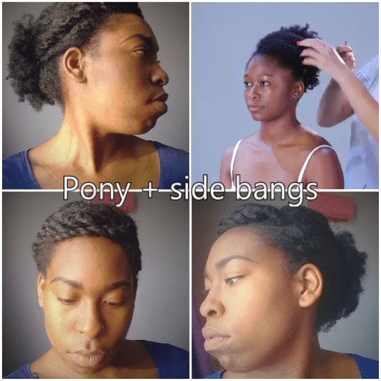 pony +side bangs