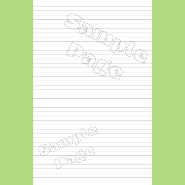 Original Lined Page - Sample - Narrow Lines