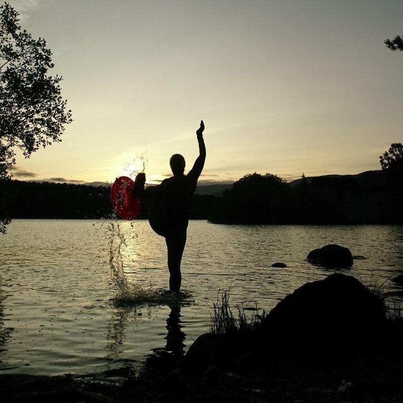 Sunrise Wild Swim Splash Kick Loch an Eilein