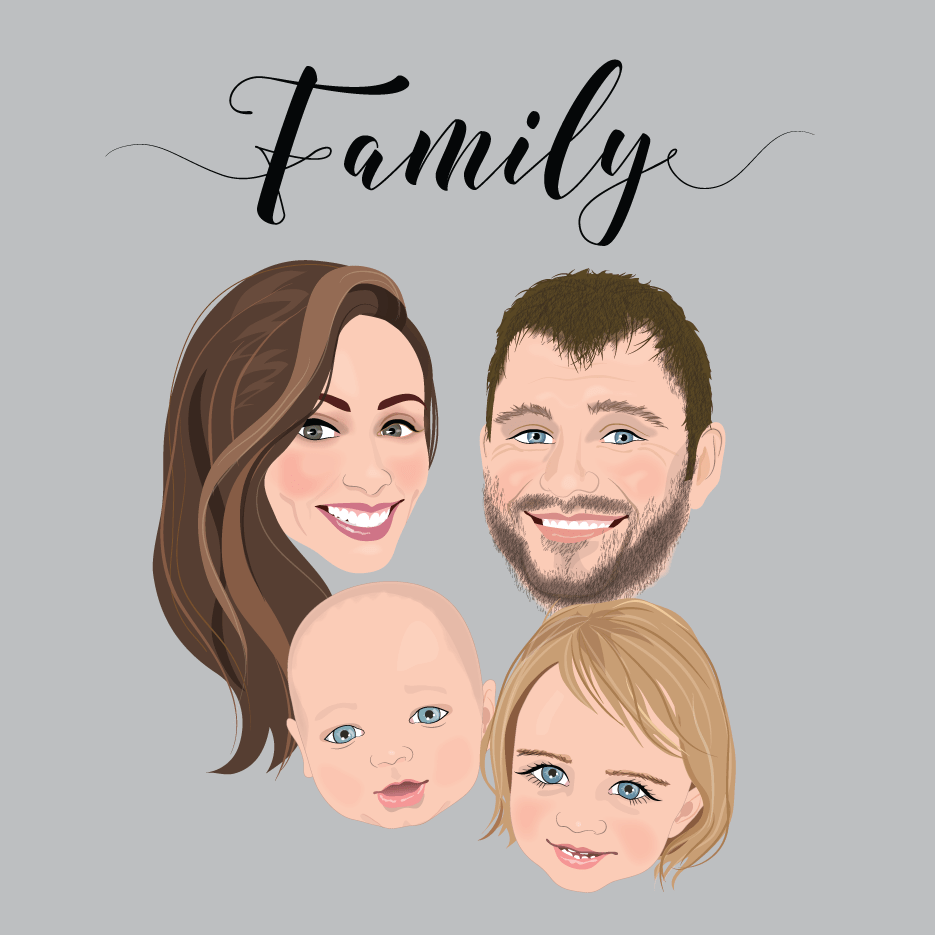 custom family portraits