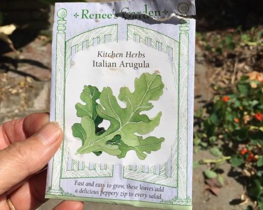 Arugula seed packet