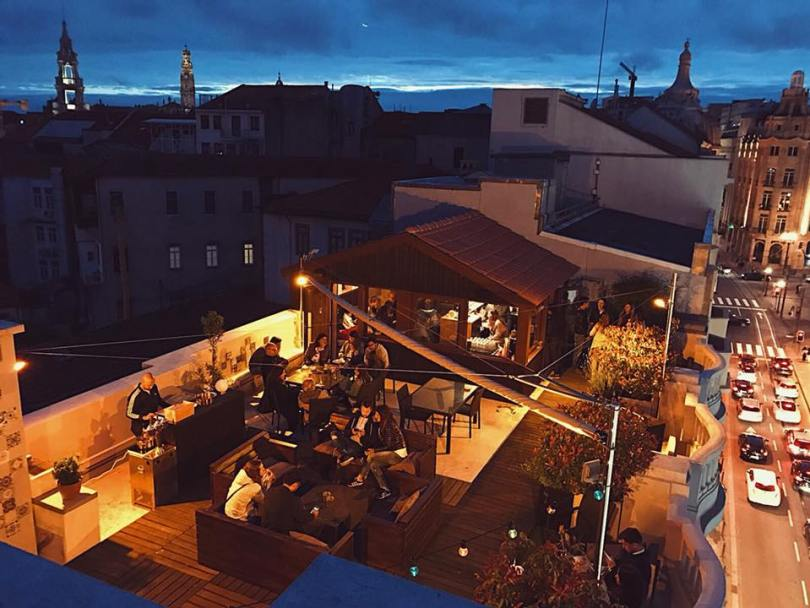 Terrasse du Graca Rooftop Bar - Rivoli Cinema Hostel - Porto