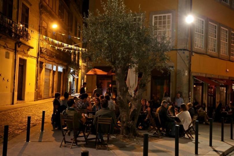 Terrasse du bar Aduela - Quartier Baixa - Porto
