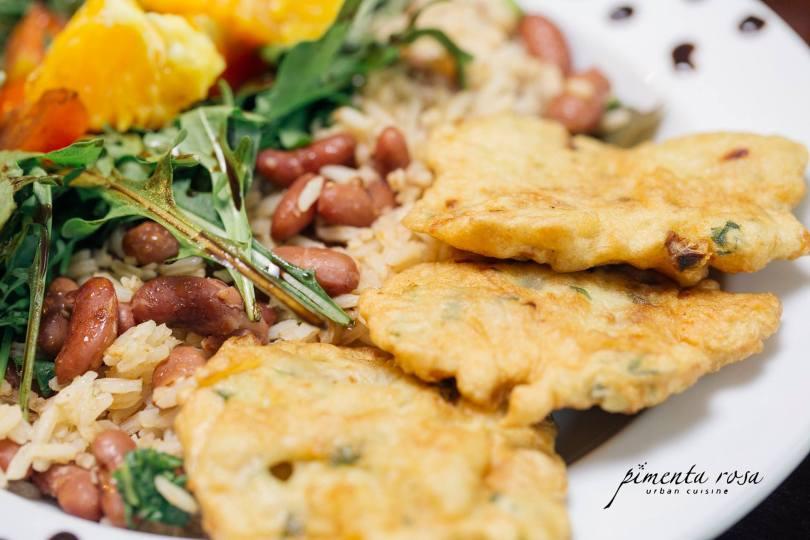 Panatiscas de Bacalhau - Plat traditionnel de morue du restaurant Pimenta Rosa - Porto