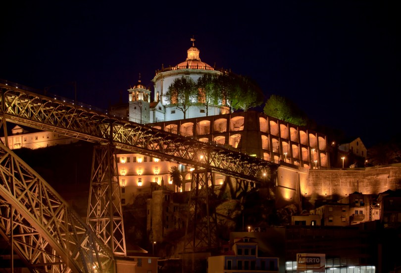 Monastere de la Serra do Pilar vu de nuit - Vila Nova de Gaia - Porto