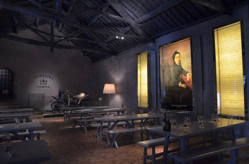 Salle de degustation des caves Porto Ferreira - Vila Nova de Gaia
